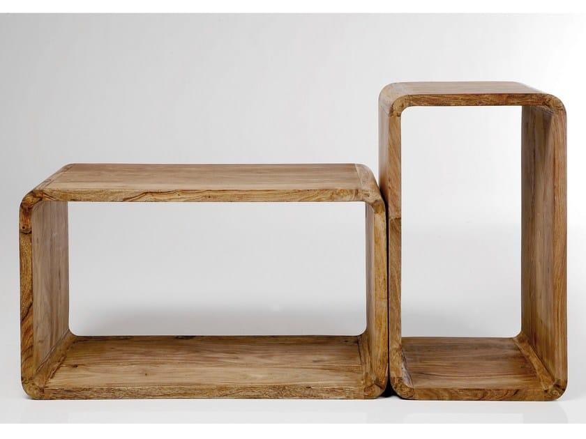 Rectangular wooden coffee table AUTHENTICO CUBE RECTANGULAR - KARE-DESIGN