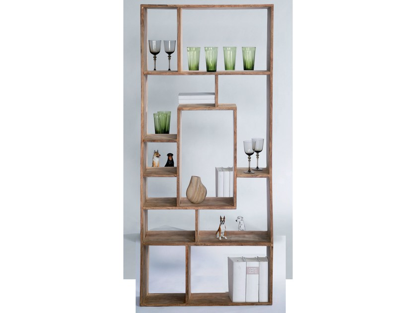 Open double-sided wooden bookcase AUTHENTICO MULTITASK 190 - KARE-DESIGN