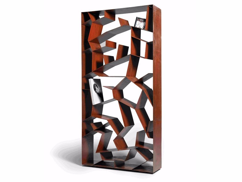 Freestanding plate bookcase AUTUM by Paolo Castelli