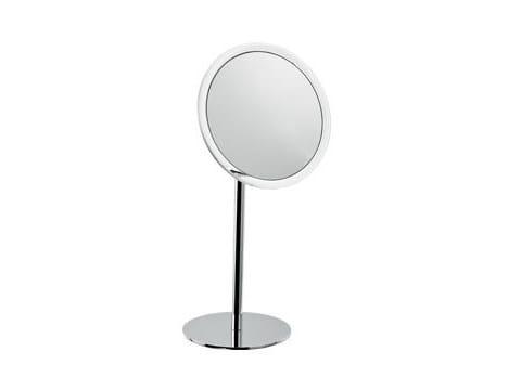 Countertop round shaving mirror AV058P | Shaving mirror - INDA®