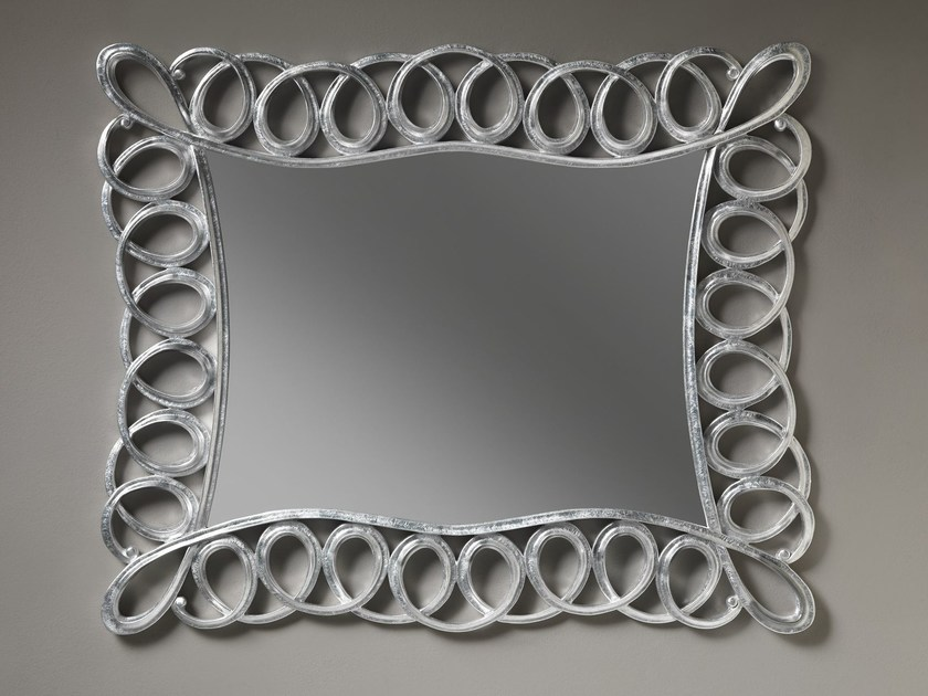 Rectangular wall-mounted framed mirror AVA by ariannasoldati