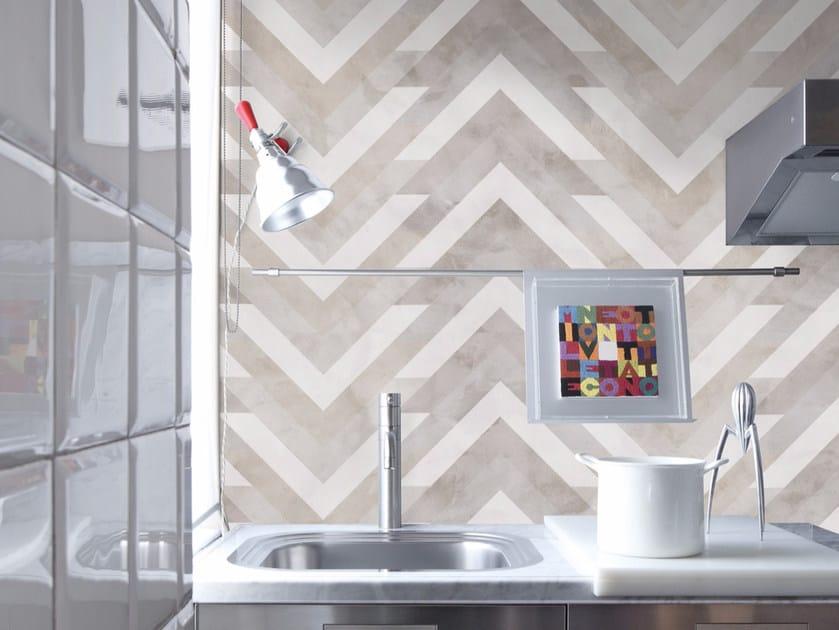 Geometric wallpaper AVAVA - Inkiostro Bianco