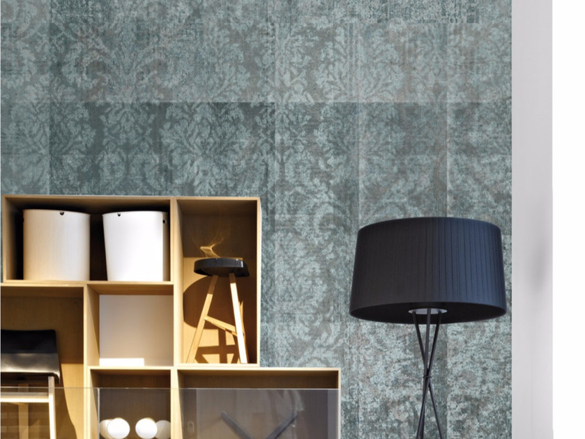 Damask panoramic wallpaper AVENUE BROCCATO - Inkiostro Bianco