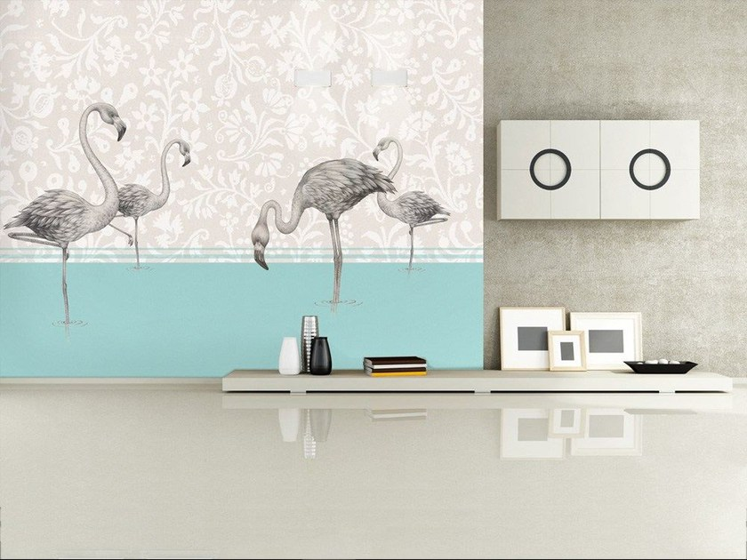 Contemporary style fabric wallpaper AVES - MyCollection.it