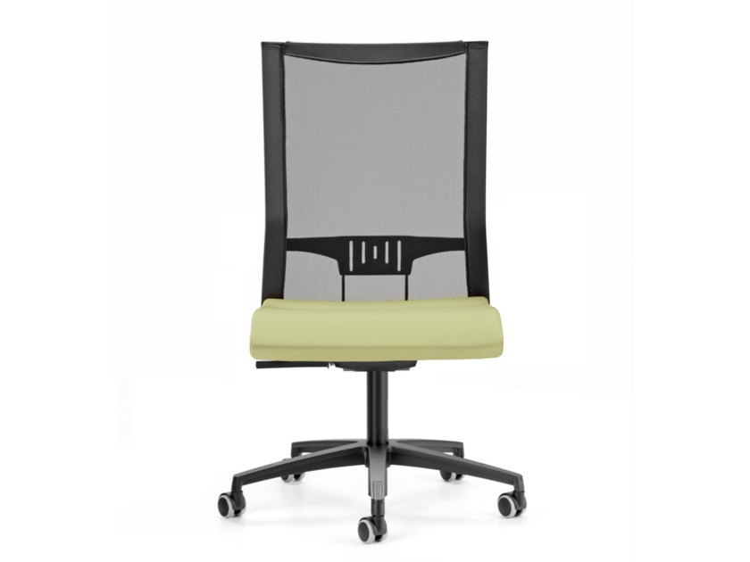 Mesh task chair with 5-Spoke base with casters AVIANET 3660 by TALIN