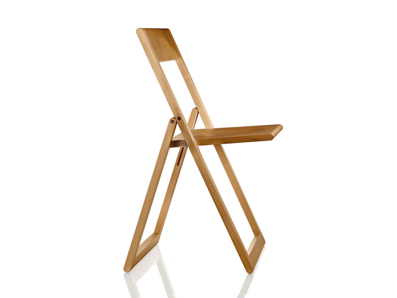 Folding solid wood chair AVIVA | Folding chair - Magis