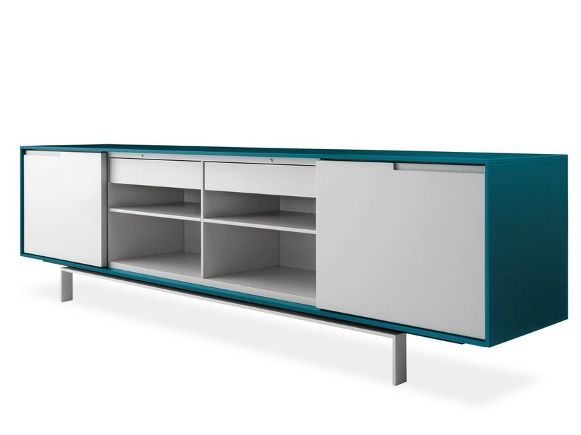 Lacquered sideboard with doors AXIA | Lacquered sideboard - Poliform