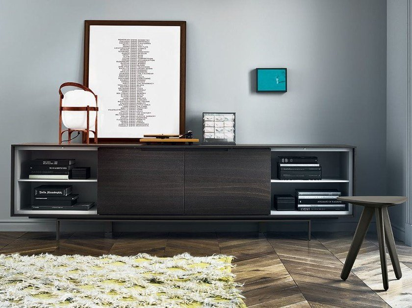 Wooden sideboard with doors AXIA | Wooden sideboard by poliform
