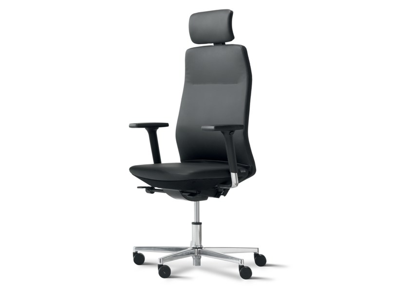 Task chair with 5-Spoke base with armrests with casters AYO | Task chair with armrests - Wiesner-Hager
