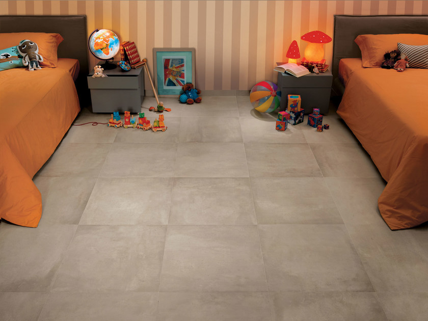 Wall/floor tiles with concrete effect AZIMUT CLAIR by NOVOCERAM