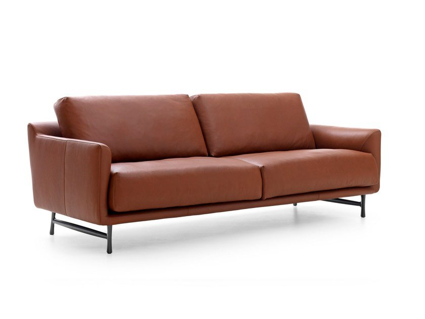3 seater leather sofa AZZURRO | Leather sofa - LEOLUX