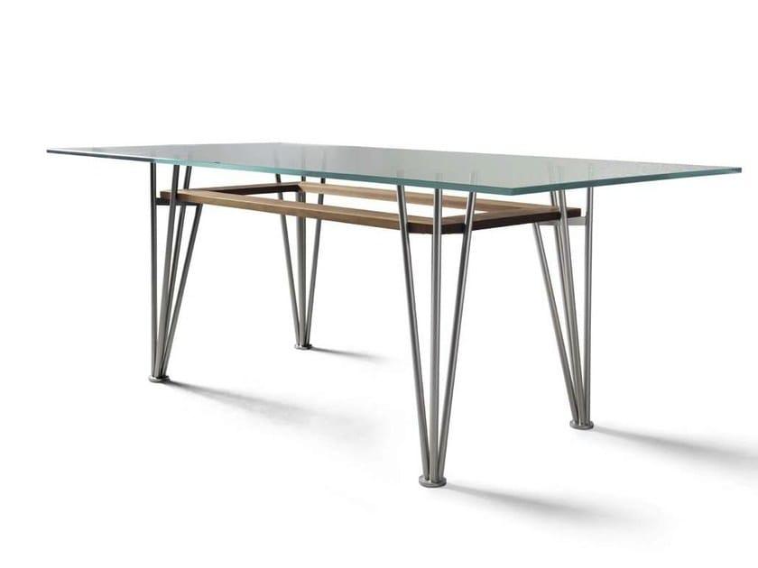 Rectangular steel and wood table B-189 | Table - Dale Italia