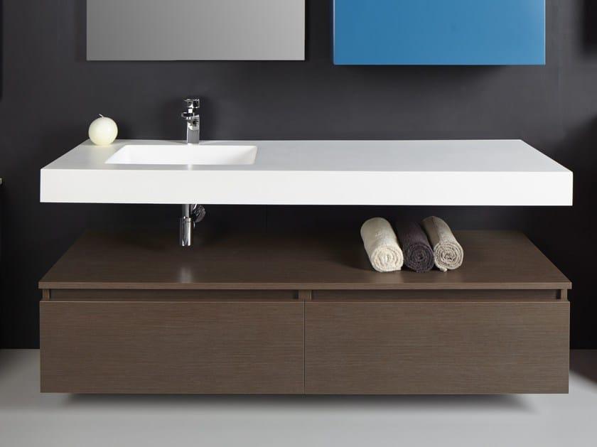Wall-mounted vanity unit B100 by Hönnun