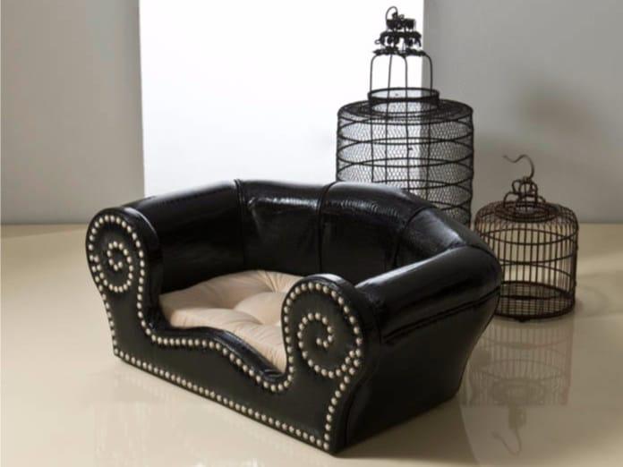Imitation leather dogbasket FIDO - Rozzoni Mobili d'Arte