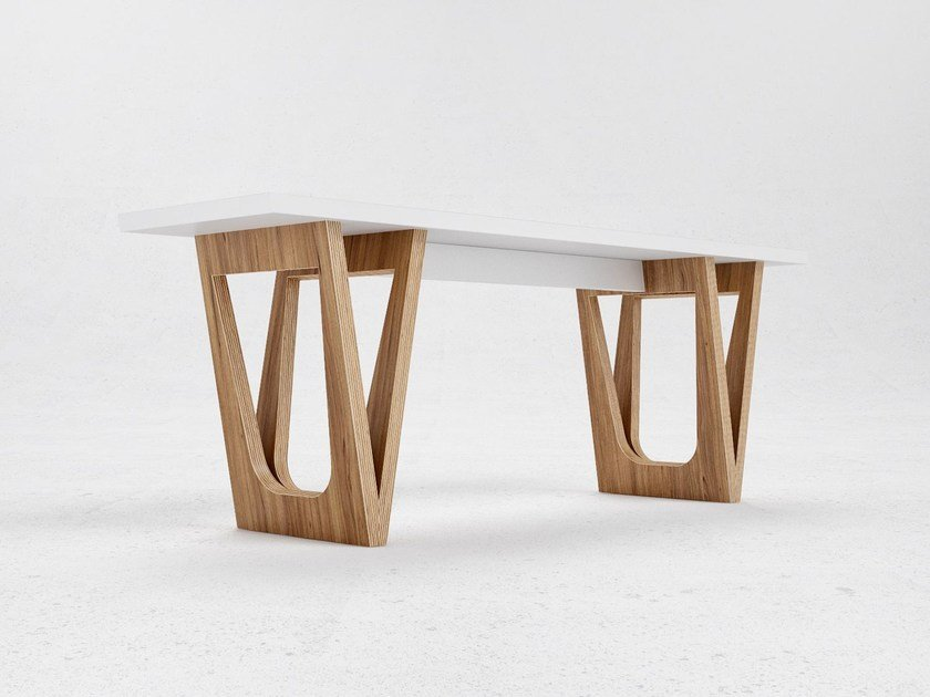 Wood veneer bench seating B2 - ODESD2