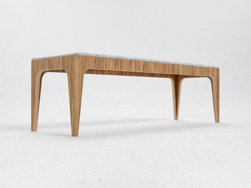 Wood veneer bench seating B3 - ODESD2