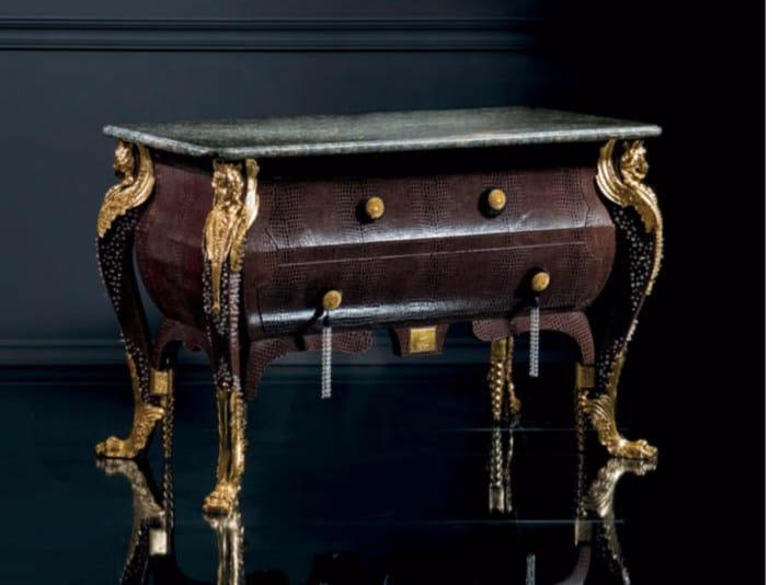 Leather dresser B358ZN | Dresser - Rozzoni Mobili d'Arte