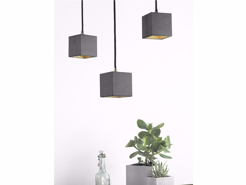Direct light cement pendant lamp [B6] DARK | Direct light pendant lamp - GANTlights
