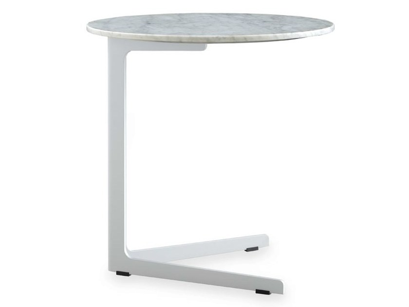 Round marble side table BABA | Marble coffee table - Poliform