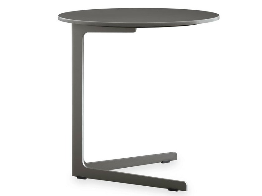 Lacquered round MDF side table BABA | MDF coffee table - Poliform