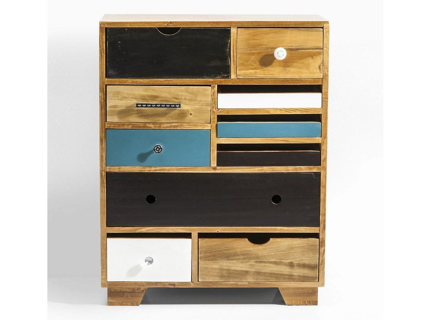 Free standing wooden chest of drawers BABALOU EU 10 by KARE-DESIGN