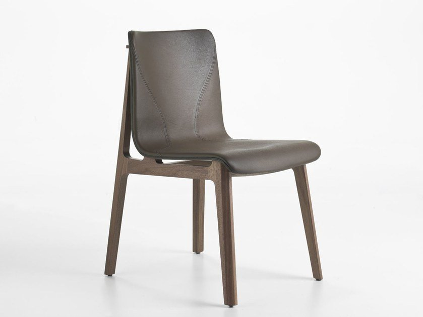 Upholstered leather chair BABETTE | Leather chair by i 4 Mariani