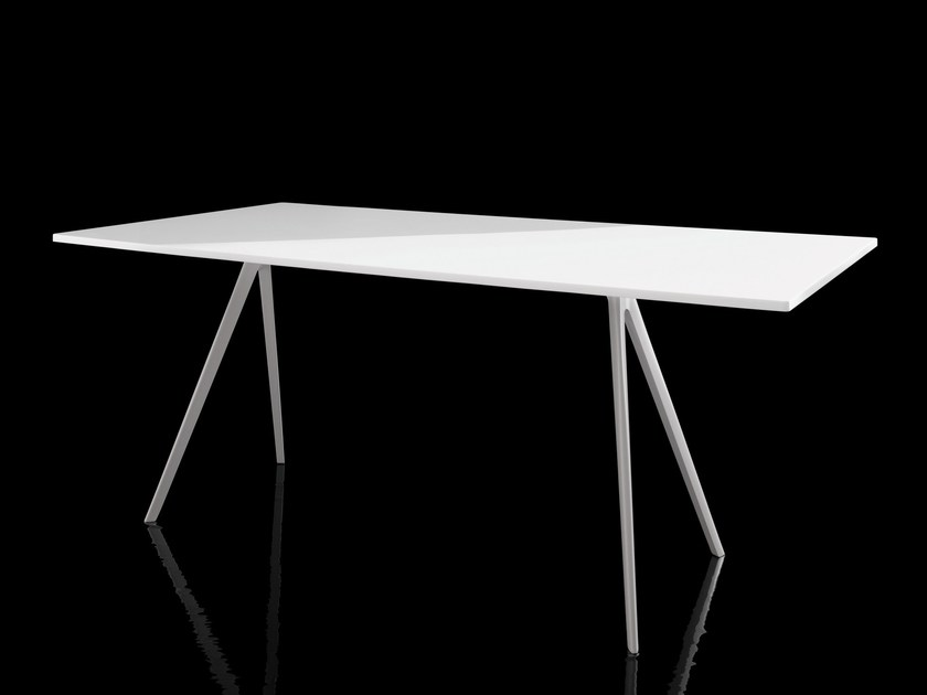 Rectangular MDF table BAGUETTE | MDF table by Magis