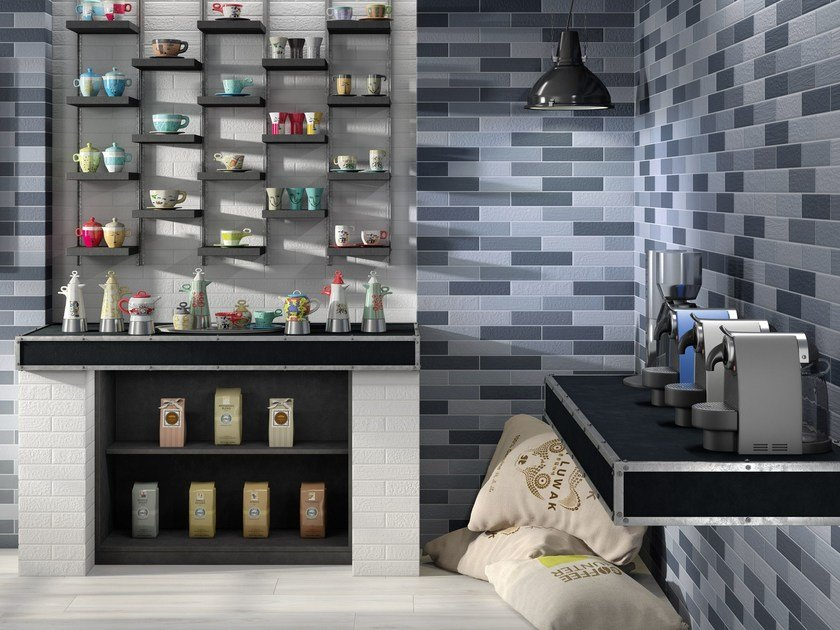 Porcelain stoneware wall/floor tiles with brick effect BALENE by Ceramica Rondine
