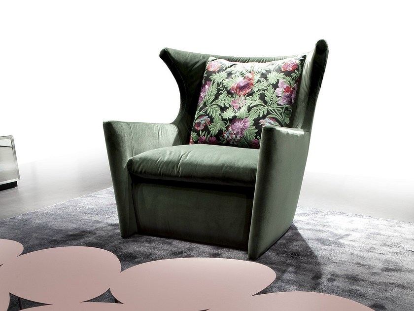 Upholstered armchair with armrests BALLA CON ME - ERBA ITALIA