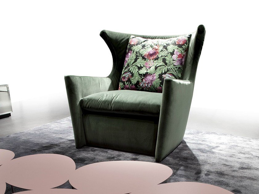 Upholstered armchair with armrests BALLA CON ME by ERBA ITALIA