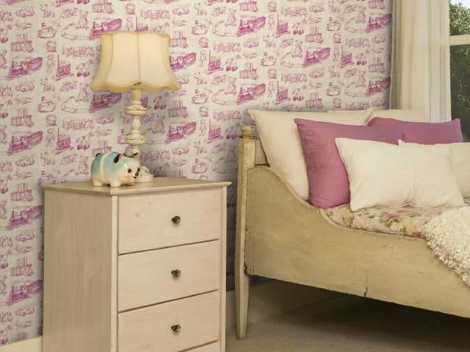 Motif non-woven paper wallpaper BAMBIN - LGD01
