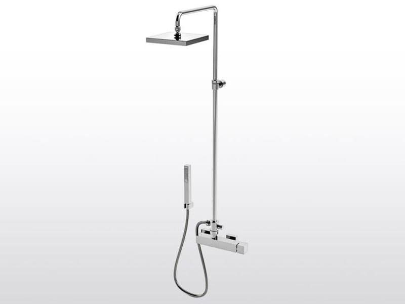 Shower panel with hand shower BAMBOO QUADRO 3283TA/304 - RUBINETTERIE STELLA