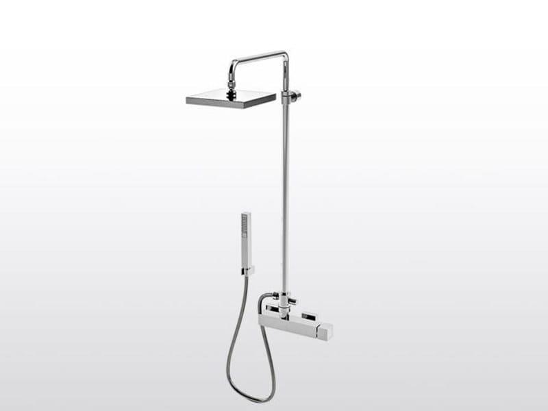 Shower panel with hand shower BAMBOO QUADRO 3283TB/304 - RUBINETTERIE STELLA