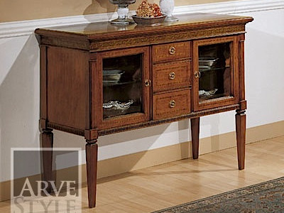 Solid wood sideboard with doors BARBARA | Sideboard with drawers - Arvestyle