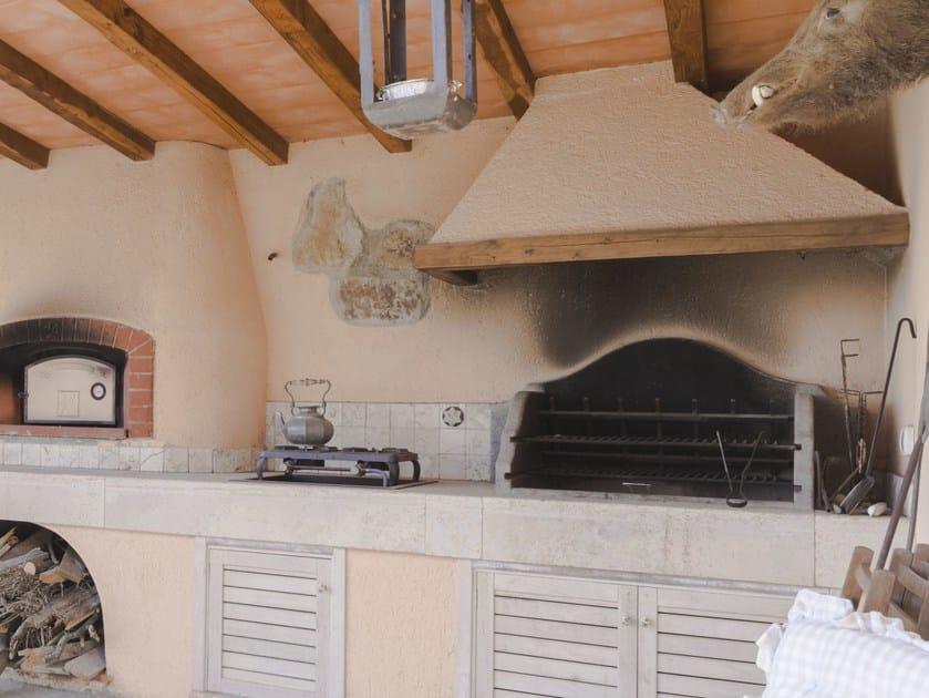 Travertine barbecue Barbecue 15 - Garden House Lazzerini