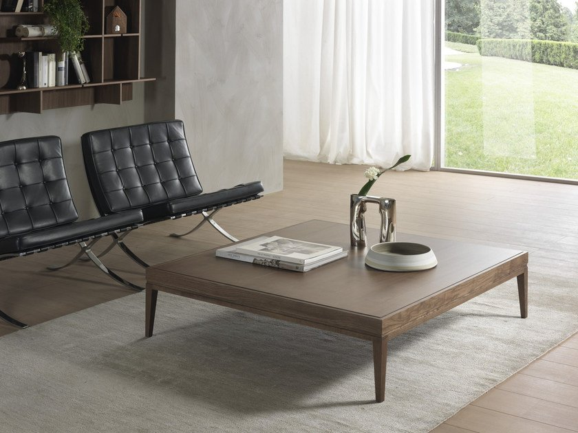 Low solid wood coffee table BARNABY | Square coffee table by Pacini & Cappellini