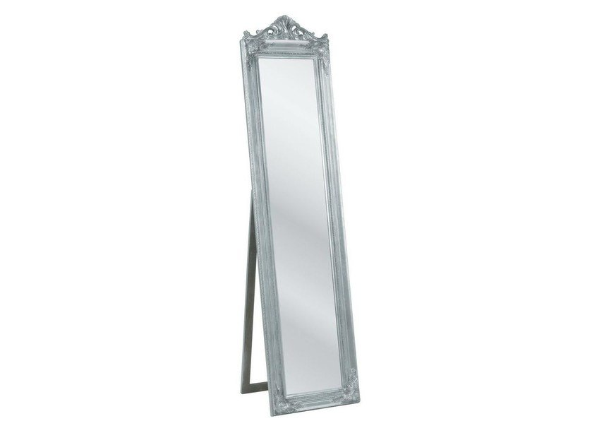 Freestanding rectangular framed mirror BAROQUE SILVER - KARE-DESIGN