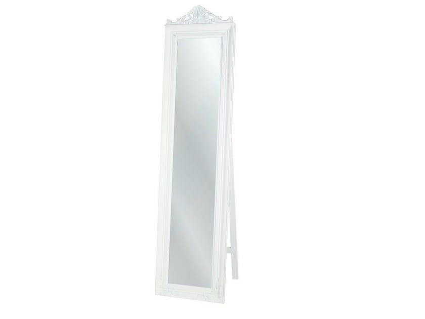 Freestanding rectangular framed mirror BAROQUE WHITE by KARE-DESIGN