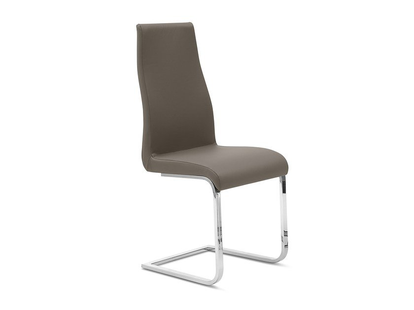 Cantilever upholstered high-back chair BART-S - DOMITALIA