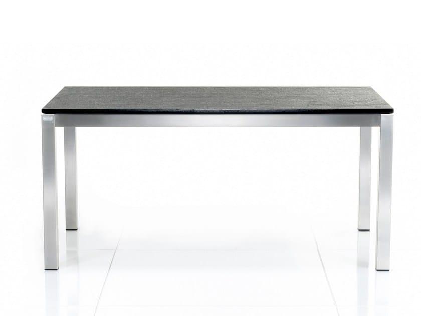 Tavolo da pranzo rettangolare in granito BASE | Tavolo rettangolare - solpuri