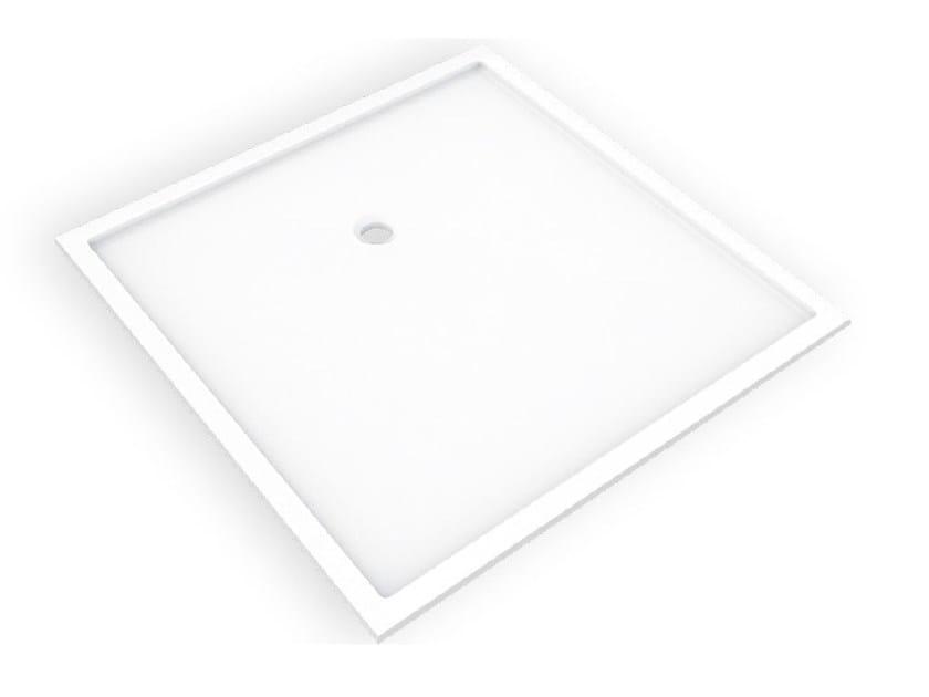 Piatto doccia quadrato in Corian® BASES SBR - AMA Design