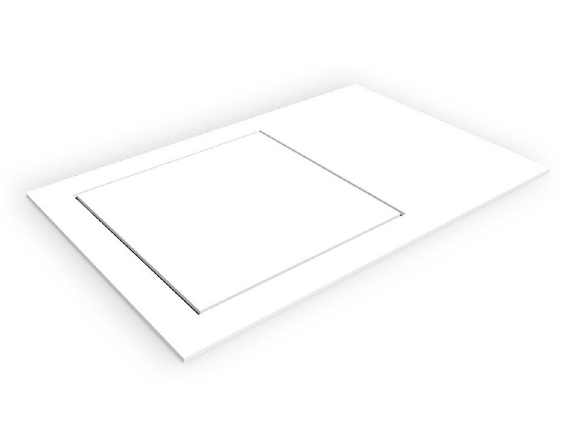 Square Corian® shower tray BASES SBS by AMA Design