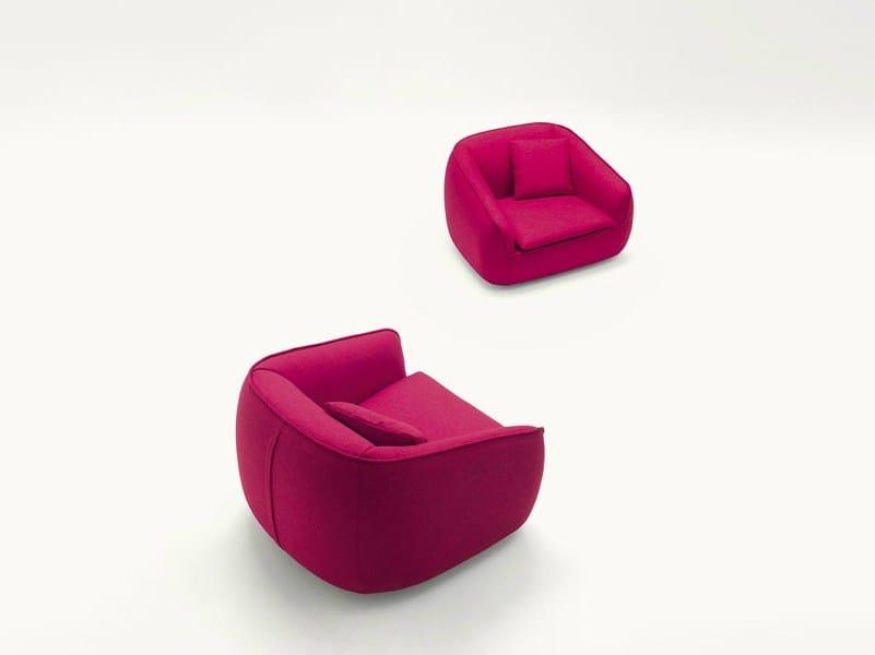 Upholstered felt armchair BASK S | Felt armchair by Paola Lenti