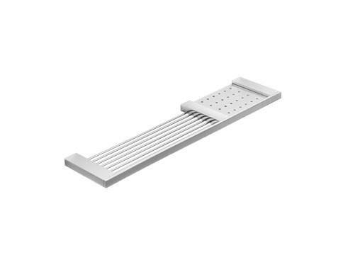 Metal bathroom wall shelf DIVO | Bathroom wall shelf - INDA®