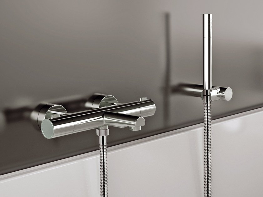Single handle thermostatic bathtub mixer with hand shower X-FACTOR | Bathtub mixer - Daniel Rubinetterie