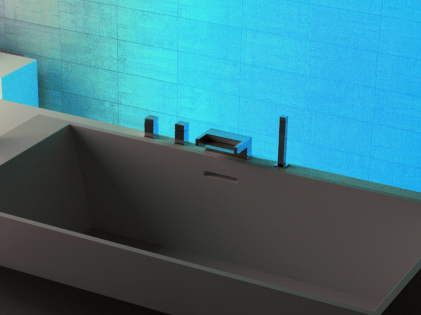 LED bathtub set with hand shower Q-AMBIENT | Bathtub set - Remer Rubinetterie