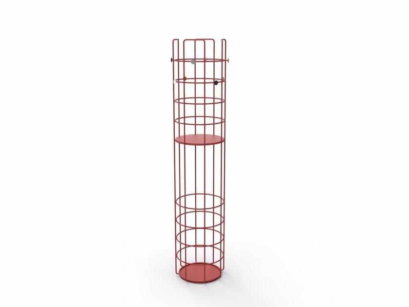Powder coated steel coat rack BAZAR   Coat rack - Richard Lampert