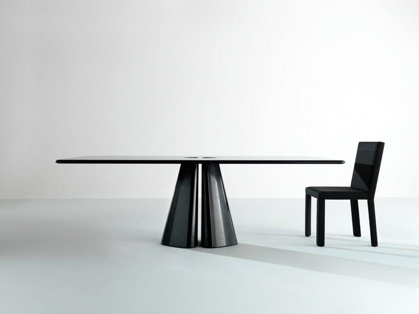 Tavolo rettangolare in marmo RAJA BD48 T Collezione Maxima by Laurameroni design Bartoli Design
