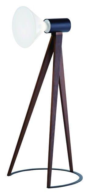 Fluorescent walnut floor lamp BEAM | Floor lamp - ROCHE BOBOIS