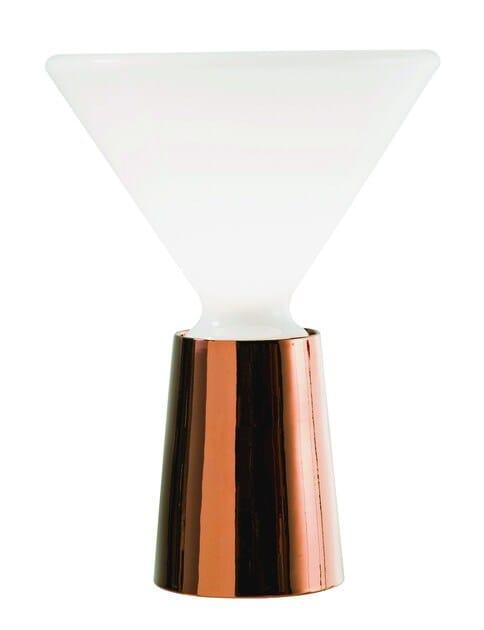 Contemporary style fluorescent metal table lamp BEAM - ROCHE BOBOIS
